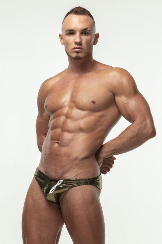 Блестящие плавик мужские бикини от М8